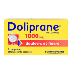 Doliprane 1000mg 8 effervescents